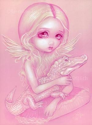 Albino Alligator Angel