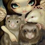 Angel with Ferrets 1