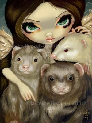 Angel with Ferrets