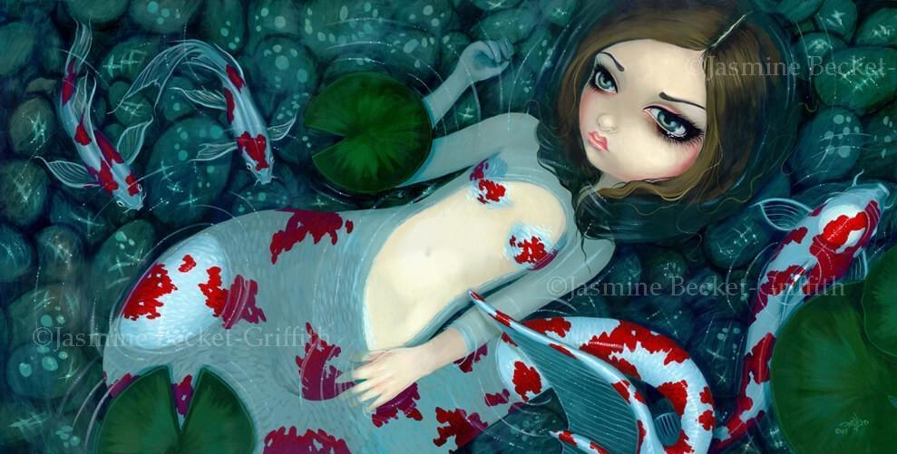 Daydreaming Koi Mermaid