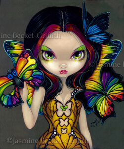 Fairy with a Butterfly Mask