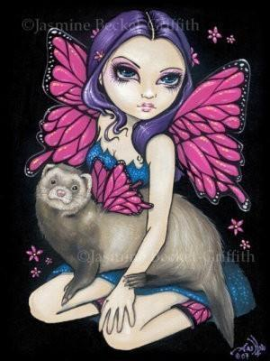 Ferret with Butterfly Wings