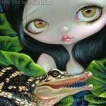 Mermaid with a Baby Alligator 1