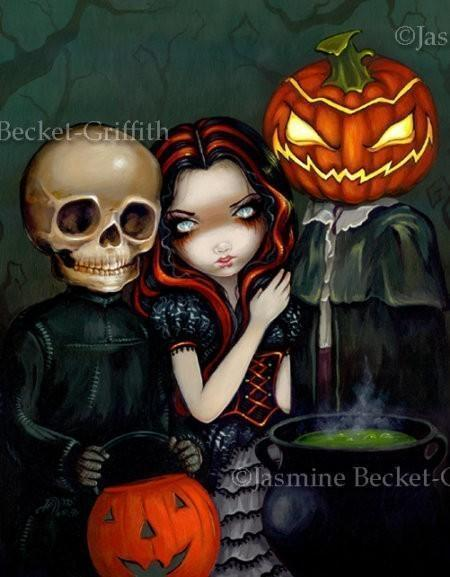 Out Trick or Treating gothic Halloween art Jasmine Becket-Griffith CANVAS PRINT