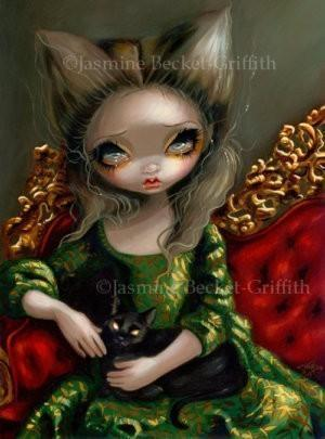 Princess with a Black Cat