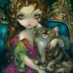 Princess with a Maine Coon Cat 1
