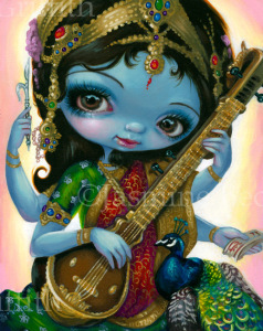 Saraswati Playing Veena