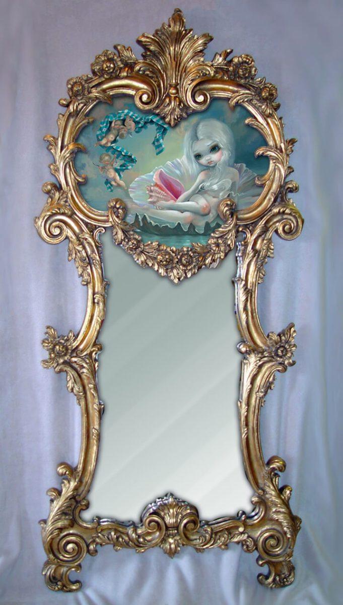 Venus With Cherubs Framed Original Painting