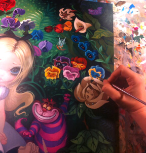 "Work-in-Progress - Disney's ""Alice in the Garden"""