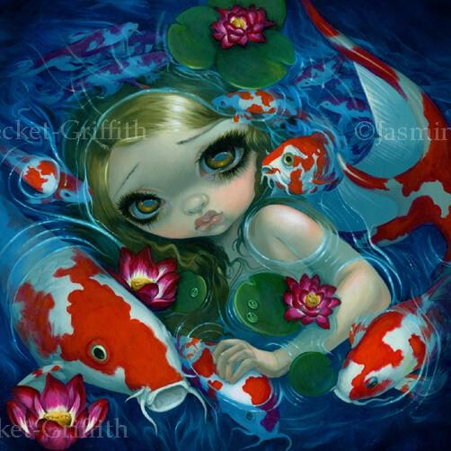 Swimming With Koi Strangeling The Art Of Jasmine Becket