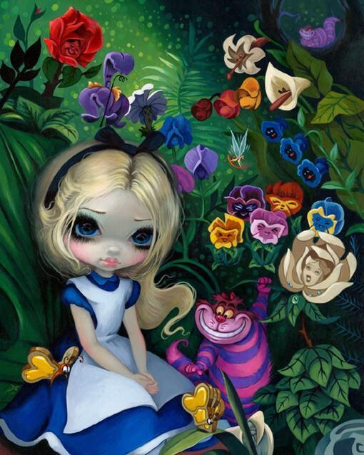 alice in wonderland alice in the garden strangeling the art of jasmine becket griffith. Black Bedroom Furniture Sets. Home Design Ideas
