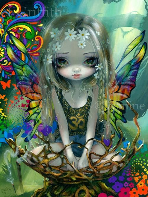 Hippie Fairy Paisley By Jasmine Becket Griffith