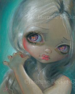 big eyes - Wistful Moment pastel by Jasmine