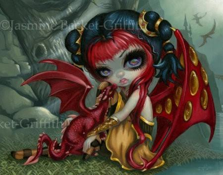 Amber Dragonling Baby Dragon Fairy By Jasmine Becket Griffith