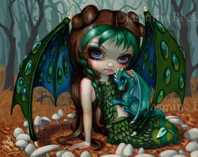 Ivy Dragonling Baby Dragon Fairy By Jasmine Becket Griffith