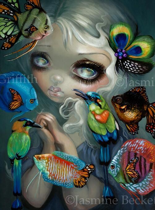 Poissons Volants - New Contemporary Surrealism by Jasmine