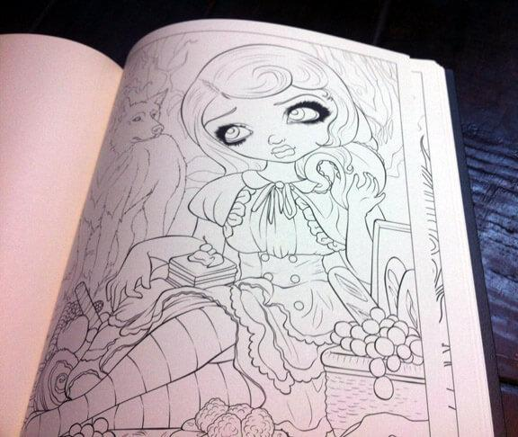jasminebecketgriffithcoloringbook2 jasminecoloringbookautographedpage jasminecoloringbookcovers jasminecoloringbookinterior jasminecoloringbookinterior2 - Gothic Coloring Book