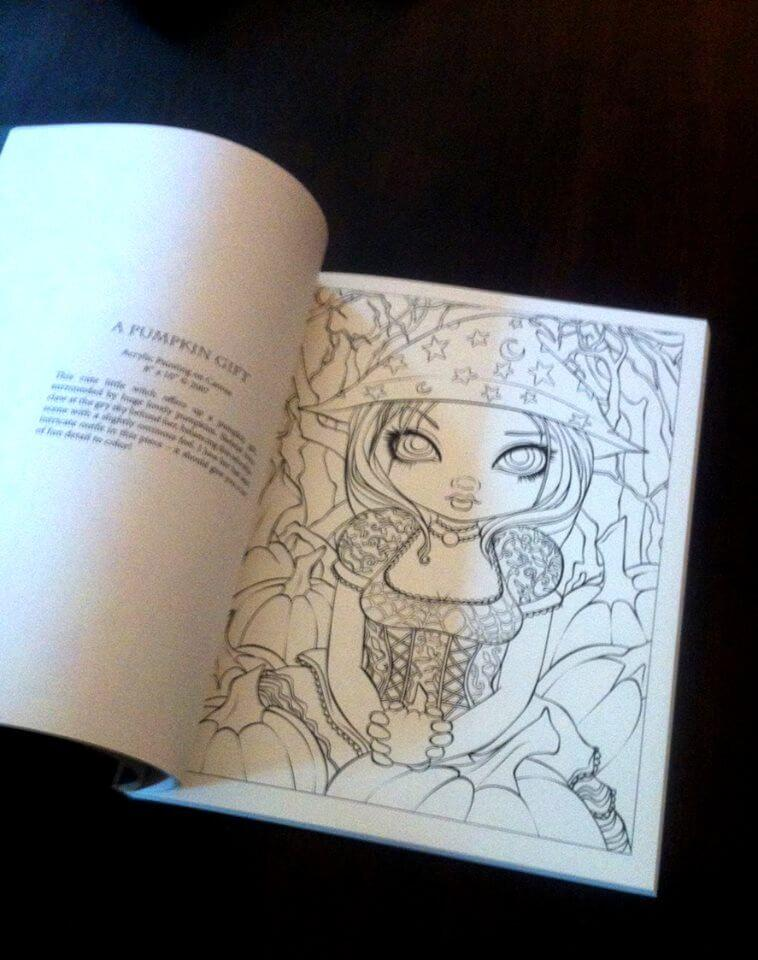 Jasmine Becket-Griffith Halloween Coloring Book Adult Grownup