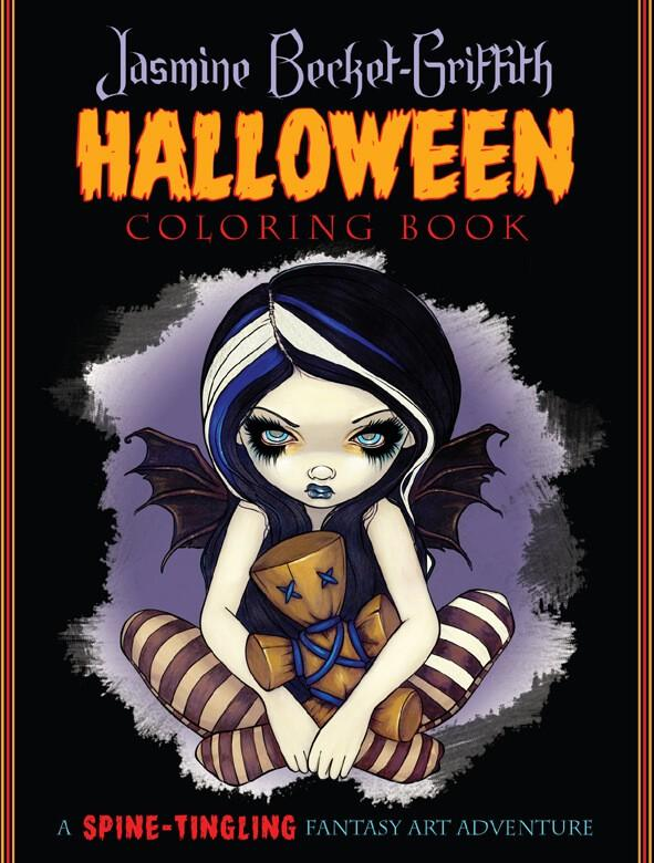 Jasmine Becket Griffith Halloween Coloring Book Adult Grownup