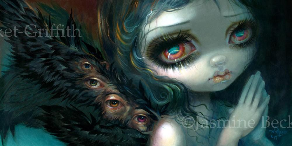Ossuary Collector Jasmine Becket-Griffith CANVAS PRINT gothic skull big eye art