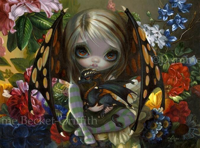 Flower Dragonling by Jasmine Becket-Griffith