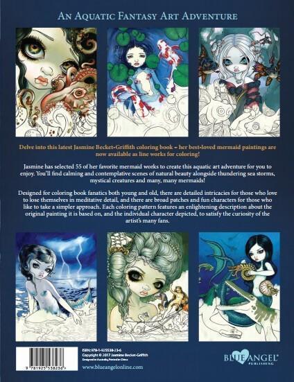 Jasmine Becket Griffith Mermaids Coloring Book Adult Grownup