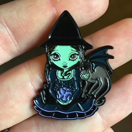 Wicked Witch and Her Flying Monkey Collectible Enamel Pin