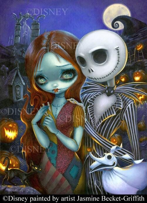 Jack and Sally by Jasmine Becket-Griffith Disney